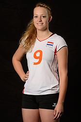 28-06-2013 VOLLEYBAL: NEDERLANDS MEISJES VOLLEYBALTEAM: ARNHEM <br /> Selectie Jeugd Oranje meisjes seizoen 2013-2014 / Sanne Metsemakers<br /> ©2013-FotoHoogendoorn.nl
