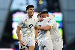 Johnny Williams of England U20 celebrates at the final whistle - Mandatory byline: Patrick Khachfe/JMP - 07966 386802 - 25/06/2016 - RUGBY UNION - AJ Bell Stadium - Manchester, England - England U20 v Ireland U20 - World Rugby U20 Championship Final 2016.