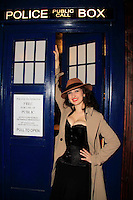 Tiffany Rae Knight wearing a Dr. Who inspired outfit at the Dr. Who event at The Way Station Bar and Venue in Prospect Heights. Shot on March 31, 2013....Photo Credit ; Rahav Iggy Segev/Photopass.com