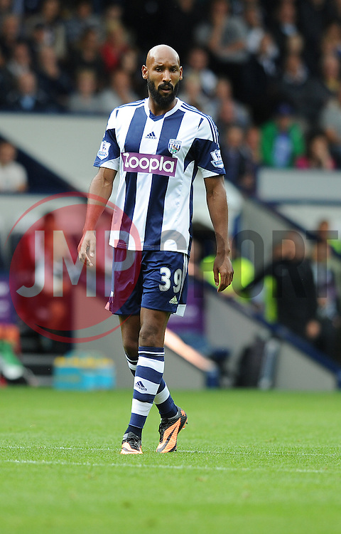 West Bromwich Albion's Nicholas Anelka  - Photo mandatory by-line: Alex James/JMP - Tel: Mobile: 07966 386802 17/08/2013 - SPORT - FOOTBALL - The Hawthorns - West Bromwich -  West Brom V Southampton - Barclays Premier League