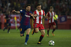 September 23, 2017 - Girona, Spain - Leo Messi from Argentina of FC Barcelona during the La Liga match between Girona FC v FC Barcelona  at Montilivi Stadium on September 23, 2017 in Girona, Spain. (Credit Image: © Xavier Bonilla/NurPhoto via ZUMA Press)
