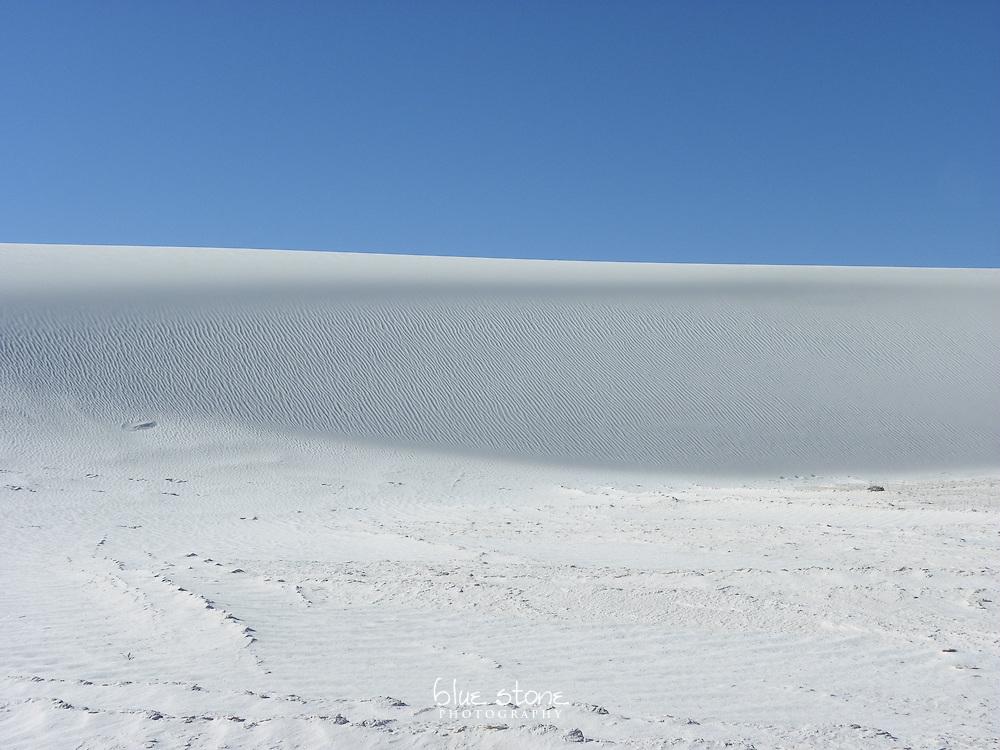 Gypsum dunes and wind pattern.
