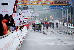 The final sprint at GREE Tour of Guangxi Women's WorldTour 2019 a 145.8 km road race in Guilin, China on October 22, 2019. Photo by Sean Robinson/velofocus.com