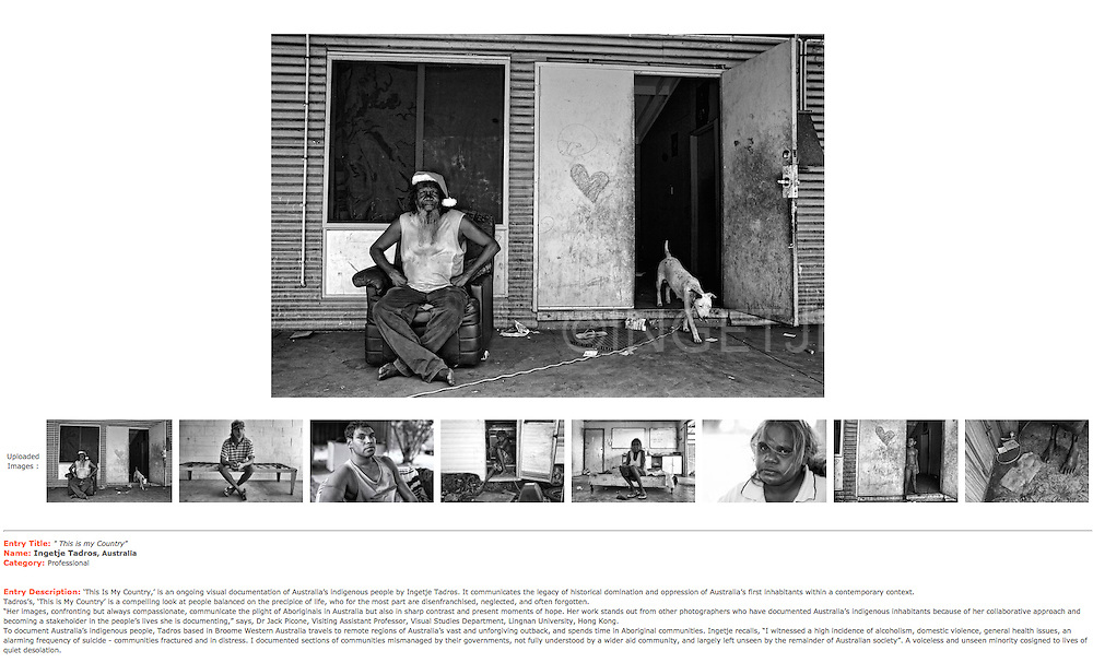Honorable Mention at the Moscow International Foto Awards 2014-Photo Essay.<br />