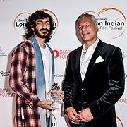 Harshvardhan Kapoor and Tony Matharu of Integrity International,Festival Patron arrives at London Indian Film Festival world premiere of Anubhav Sinha's 'Article 15' at Picturehouse Central, on 20 June 2019, London , UK.