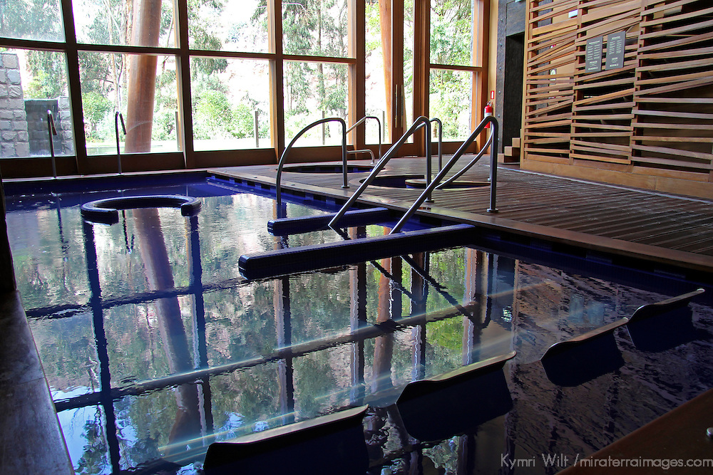 South America, Peru, Urubamba. Spa at Tambo del Inka Resort & Spa in the Sacred Valley.