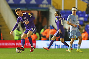 Portsmouth midfielder Tom Naylor turns with the ball during the EFL Sky Bet League 1 match between Coventry City and Portsmouth at the Trillion Trophy Stadium, Birmingham, England on 11 February 2020.