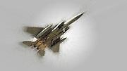 Digitally enhanced image of a McDonnell Douglas F-15 Eagle