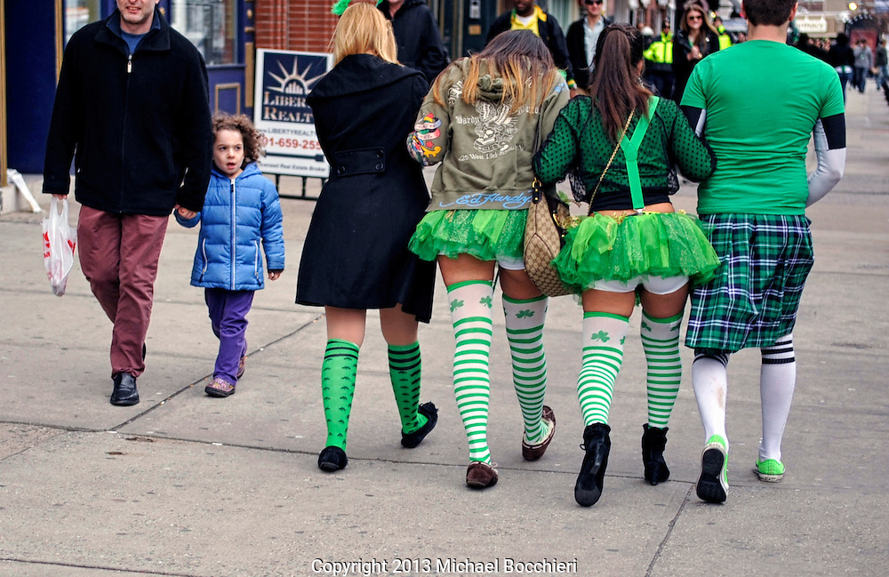 HOBOKEN, NJ - March 02:  People attend the Lepre-Con bar crawl event as part of St. Patrick's Day festivities  on March 02, 2013 in HOBOKEN, NJ. Last year marked the first time in decades that the Hoboken St. Patrick's Day parade didn't take place after organizers and city government couldn't agree on a date. Bar owners instead held a city-wide drinking event that attracted thousands to the area.  (Photo by Michael Bocchieri/Bocchieri Archive)