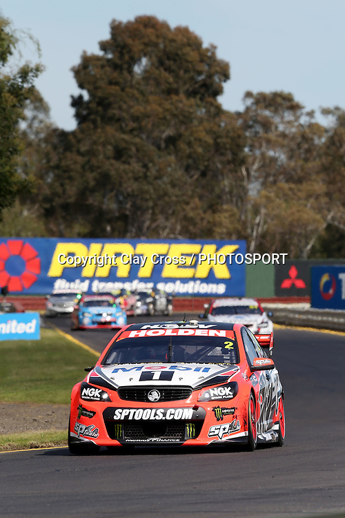 Garth Tander & Warren Luff (Holden Racing Team). 2015 Wilson Security Sandown 500. V8 Supercars Championship Round 9. Sandown International Raceway, Victoria. Sunday 13 September 2015. Photo: Clay Cross / photosport.nz