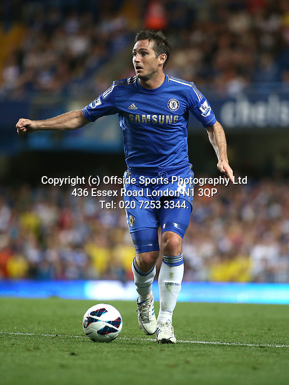 22 August 2012 Premier League football. Chelsea v Reading.<br /> Frank Lampard.<br /> Photo: Mark Leech.