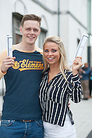 12/08/2015 Patrick Daly and Leah Kilmartin Claregalway who were absolutely delighted with their  results  from Yeats College Galway. Photo:Andrew Downes