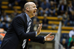 March 16, 2011; Berkeley, CA, USA;  Mississippi Rebels head coach Andy Kennedy on the sidelines against the California Golden Bears during the first half of the first round of the National Invitation Tournament at Haas Pavilion.