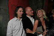 Ivor Braka, Justin Portman and Stephanie Dorrance , Party for Jean Pigozzi hosted by Ivor Braka to thank him for the loan exhibition 'Popular Painting' from Kinshasa'  at Tate Modern. Cadogan sq. London. 29 May 2007.  -DO NOT ARCHIVE-© Copyright Photograph by Dafydd Jones. 248 Clapham Rd. London SW9 0PZ. Tel 0207 820 0771. www.dafjones.com.