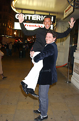 Left to right, Jockey FRANKIE DETTORI and MARCO PIERRE WHITE at a party to celebrate the opening of the new Piccadilly Circus Frankie's Bar & Grill at The Criterion, Piccadilly Circus, London on 25th January 2006.<br /><br />NON EXCLUSIVE - WORLD RIGHTS