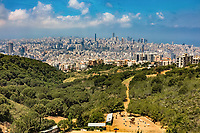 Beirut skylines cityscapes panorama capital city of Lebanon Middle east