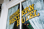 The historic Western Hotel, Ouray, Colorado USA