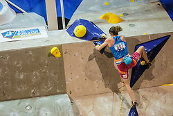 Verhoeven Anak (BEL) during women final competition of IFSC Climbing World Cup Kranj 2016, on November 27, 2016 in Arena Zlato Polje, Kranj, Slovenia. (Photo By Grega Valancic / Sportida.com)