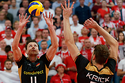 23-09-2019 NED: EC Volleyball 2019 Poland - Germany, Apeldoorn<br /> 1/4 final EC Volleyball - Poland win 3-0 / Lukas Immanuel Kampa #11 of Germany