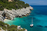 Kako Lagadi Beach near Poros.  Kefalonia, The Ionian Islands, Greece