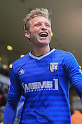 Gillingham midfielder Josh Wright (44) scorer of both Gillingham goals walking off after the match during the EFL Sky Bet League 1 match between Gillingham and Southend United at the MEMS Priestfield Stadium, Gillingham, England on 25 February 2017. Photo by Martin Cole.