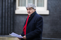 © Licensed to London News Pictures. 05/12/2016. London, UK. Actor TOM CONTI delivers a petition to 10 Downing Street calling for the release of British woman Nazanin Zaghari-Ratcliffe who has been imprisoned in Iran for 150 days. Zaghari-Ratcliffe has been sentenced to five years on charges that remain secret. Photo credit: Rob Pinney/LNP