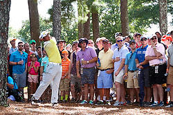 August 12, 2017 - Charlotte, North Carolina, United States - Hideki Matsuyama hits out of the rough on the 8th hole during the third round of the 99th PGA Championship at Quail Hollow Club. (Credit Image: © Debby Wong via ZUMA Wire)