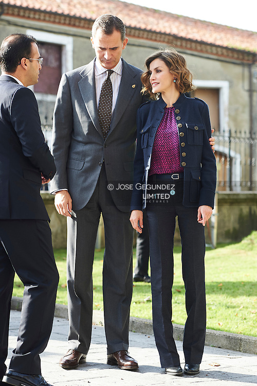 King Felipe VI of Spain, Queen Letizia of Spain visit the village of Colombres on October 24, 2015 in Colombres, Asturias, Spain. The village of Colombres was honoured as the 2015 Best Asturian Village during Princess of Asturias Awards 2015.