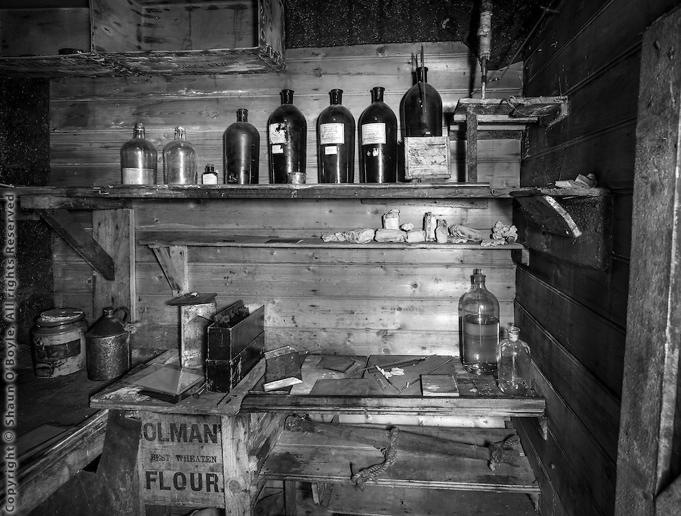 Darkroom, Shackleton's Cape Royds hut