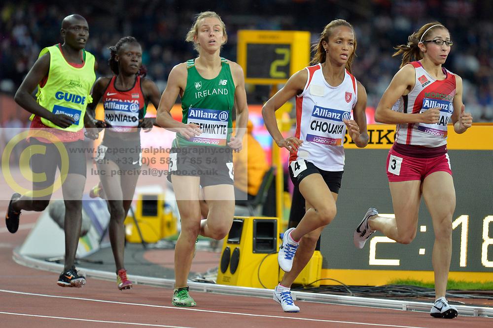 14/07/2017 : Greta Streimikyte, T13, 1500m (Women's) Final, at the 2017 World Para Athletics Championships, Olympic Stadium, London, United Kingdom