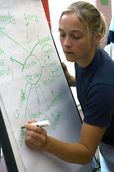 Entry 2 Employment programme trainer using flipchart to plan video project and the processes towards producing a DVD; Sycamore Centre Nottingham ,