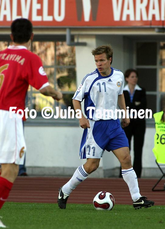 02.06.2007, Olympic Stadium, Helsinki, Finland..UEFA European Championship 2008.Group A Qualifying Match Finland v Serbia.Joonas Kolkka - Finland.©Juha Tamminen.....ARK:k