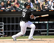 CHICAGO - APRIL 08:  Jose Abreu #79 of the Chicago White Sox bats against the Tampa Bay Rays on April 8, 2019 at Guaranteed Rate Field in Chicago, Illinois.  (Photo by Ron Vesely)  Subject:   Jose Abreu