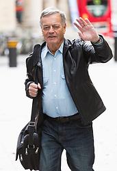 London, October 22 2017. DJ Tony Blackburn arrives at the BBC's Radio 1 . © Paul Davey