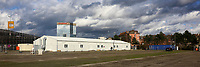Ludwigshafen. 09.03.17 | BILD- ID 023 |<br /> Messplatz. Seit Oktober 2015 wurden hier Fl&uuml;chtlinge in Notunterk&uuml;nften untergebracht. In Winterfesten Zelten wurden den meist m&auml;nnlichen Fl&uuml;chtlingen eine Unterkunft geboten. <br /> Mittlerweile wurden zwei Zelte und mehrere Container abgebaut.<br /> Bild: Markus Pro&szlig;witz 09MAR17 / masterpress (No Modelrelease!)