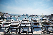 May 24-27, 2017: Monaco Grand Prix. Yachts in the harbor