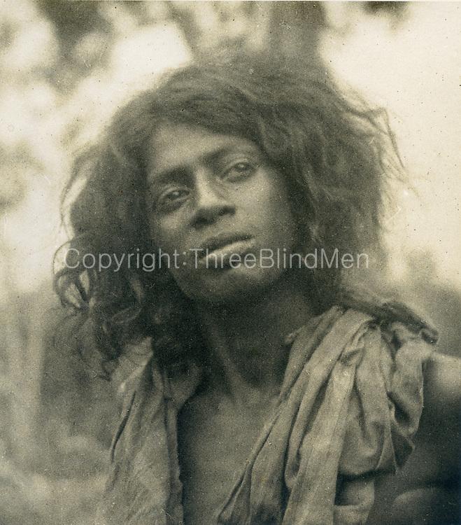 Portrait of a young Veddah man.<br /> <br /> Dr. R. L. Spittel Collection