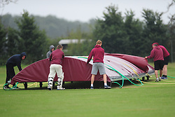 COVERS BEING PUT ON 30 MINS INTO GAME AS HEAVY RAIN, Wellingborough Old Grammarians v  Kislingbury Cricket Club, Saturday 3rd September 2016
