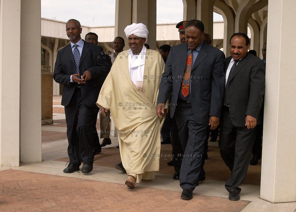 Roma 14 Settembre  2007.Il Presidente del Sudan Omar el-Bashir in visita alla Moschea grande .President Omar el-Bashir.