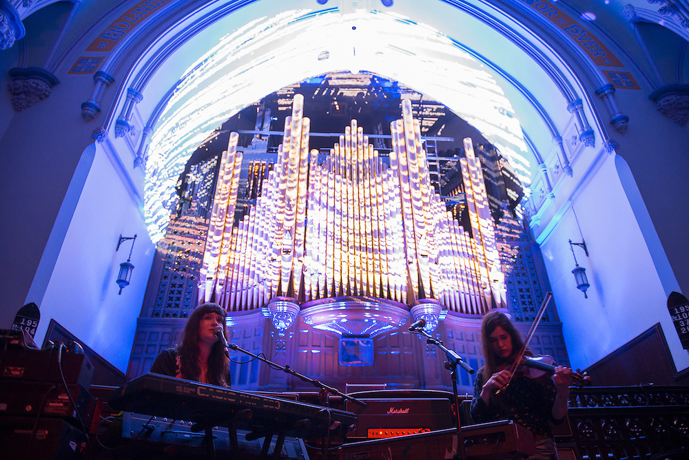 Les Momies de Palerme (CA), A/Visions 4, The Organ Drop, Église Saint-James, Montreal,2 juin 2012.