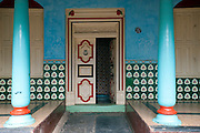 Door to a home in Nagapattinam. Tamil Nadu. South India.