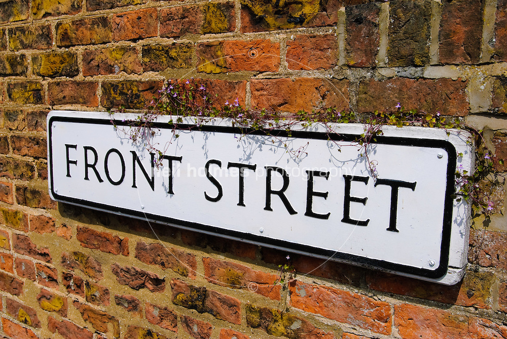 Lockington Village, East Yorkshire. Front Street signpost.
