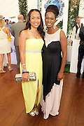 Water Mill, New York: (L-R) Valiesha Butterfield-Jones, Co-founder & Chair, Women in in Entertainment Empowerment Network (WEEN) and Tangie Murray, Executive Director, RUSH Philanthropic Arts Foundation  attend the RUSH Philanthropic Arts Foundation 15th Annual Art For Life Benefit Gala held in the Hamptons at the Farmview Farms on July 26, 2014  in Water Mill, New York. (Terrence Jennings)