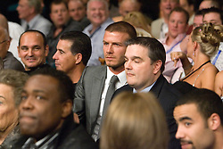 K.M. CANNON/REVIEW-JOURNALSoccer player David Beckham, center, sits in his seat before the Floyd Mayweather Jr. versus Ricky Hatton, of Great Britain, WBC welterweight boxing title fight at the MGM Grand hotel-casino in Las Vegas, Saturday, Dec. 8, 2007...