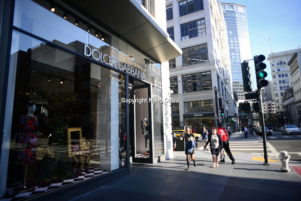 Dolce & Gabanna boutique store off Union Square, San Francisco.