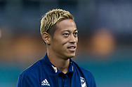 SYDNEY, AUSTRALIA - APRIL 27: Melbourne Victory midfielder Keisuke Honda (4) before kick off at round 27 of the Hyundai A-League Soccer between Western Sydney Wanderers FC and Melbourne Victory on April 27, 2019 at ANZ Stadium in Sydney, Australia. (Photo by Speed Media/Icon Sportswire)
