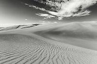 Lines in the sand on a sunny day near High Dune in Great Sand Dunes National Park, Colorado