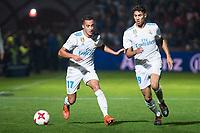 Real Madrid Lucas Vazquez and Achraf Hakimi during Copa del Rey match between Fuenlabrada and Real Madrid at Fernando Torres Stadium in Madrid, Spain. October 26, 2017. (ALTERPHOTOS/Borja B.Hojas)