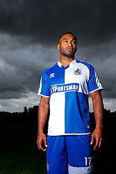 Jermaine Easter of Bristol Rovers poses during a portrait session ahead of the 2015/16 Sky Bet League Two campaign - Mandatory byline: Rogan Thomson/JMP - 07966 386802 - 03/08/2015 - FOOTBALL - The Lawns Training Ground - Bristol, England - Sky Bet League Two.