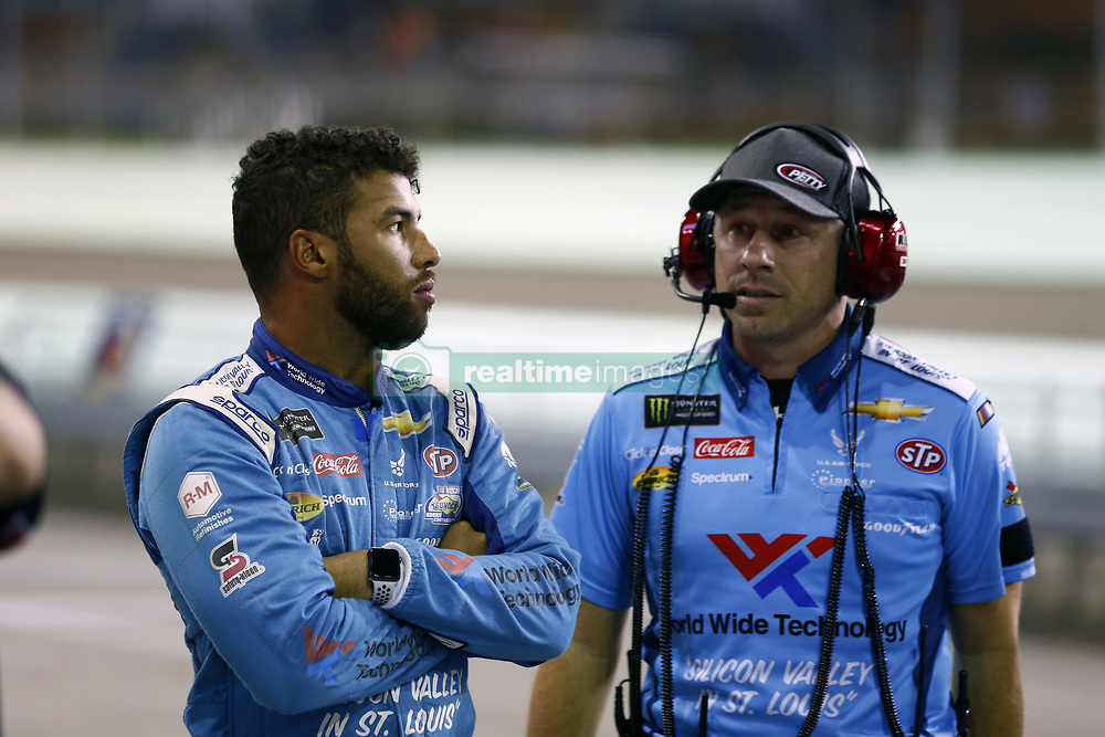 November 16, 2018 - Homestead, Florida, U.S. - Darrell Wallace, Jr (43) hangs out on pit road prior to qualifying for the Ford 400 at Homestead-Miami Speedway in Homestead, Florida. (Credit Image: © Justin R. Noe Asp Inc/ASP)